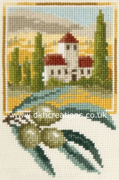 Tuscan Olives Cross Stitch Kit